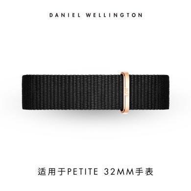 丹尼尔惠灵顿(Daniel Wellington)DW女?#30452;?#26102;尚针扣黑色尼龙14mm表带