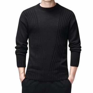 針織衫男士保暖毛衣針織衫秋冬季日系潮流圓領針織衫衛衣男士毛衣簡約青年韓版毛線打底衫針織衫BL-XR934