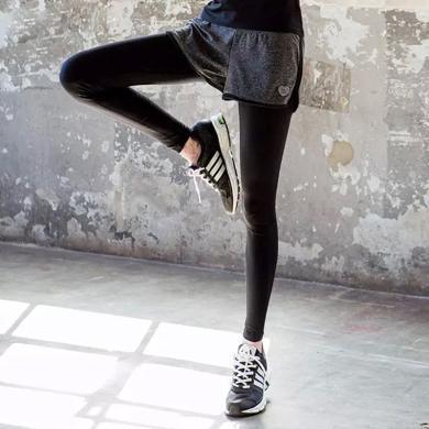 韓版秋冬休閑運動褲女假兩件健身戶外套裝瑜伽服長褲