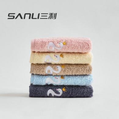 三利儿童洗脸毛巾纯棉家用吸水全棉柔软宝宝童巾卡通小面巾-7170