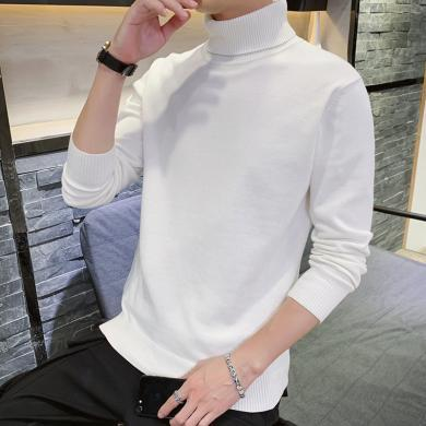富贵鸟男装冬季新款高领针织衫打底毛衣百搭休闲M708