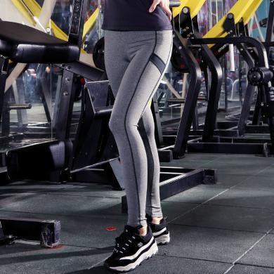 韓版新款健身褲 戶外運動瑜伽服 塑身九分褲 瑜伽褲