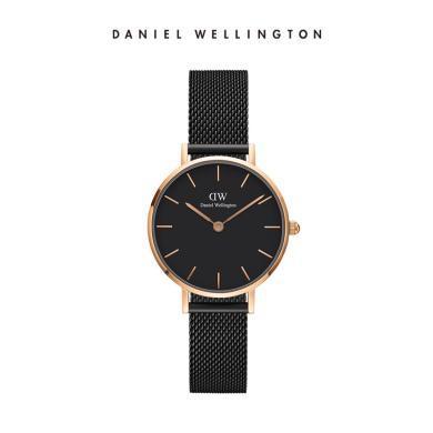 丹尼爾惠靈頓(Daniel Wellington)DW手表28mm黑色金屬表帶女表