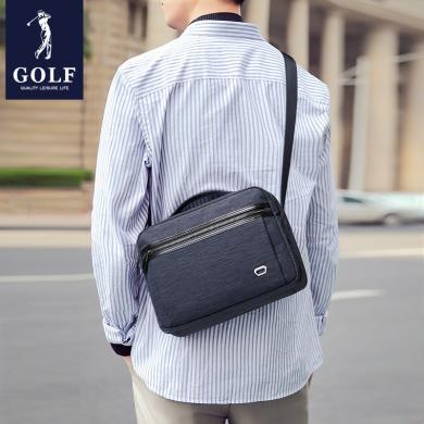 高爾夫GOLF單肩包男士包包斜挎包時尚休閑牛津布郵差包帆布手提背包潮  D942905
