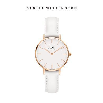 Danielwellington丹尼尔惠灵顿 dw手表28mm纯白皮革表带女表
