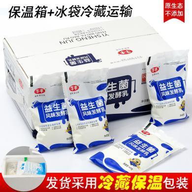 牛豐酸奶原味兒童營養早餐酸奶網紅發酵益生菌袋裝風味酸牛奶*15袋