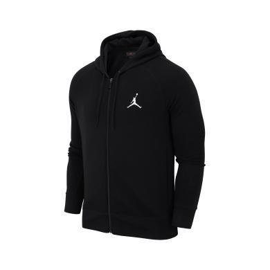 Nike耐克AIR JORDAN 男子针织连帽运动薄款保暖外套AH3932