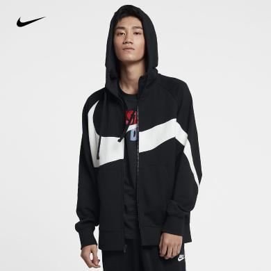 耐克新款Swoosh 潮流街舞大標大logo男子連帽夾克衛衣AR3085-010