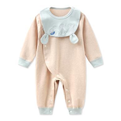 班杰威爾純棉嬰兒連體衣春秋內衣新生兒衣服和尚服哈衣