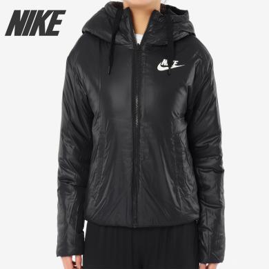 NIKE耐克夾克女裝2019秋冬季運動服雙面穿休閑棉服外套939361