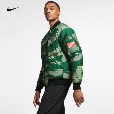 Nike耐克 19春季男子 JORDAN棒球服休闲运动夹克外套 AT9006-010