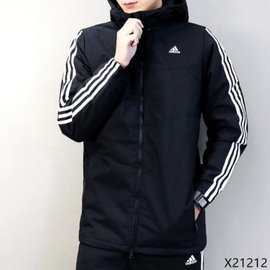 Adidas阿迪達斯男冬季棉服運動防風保暖連帽外套棉衣X21212