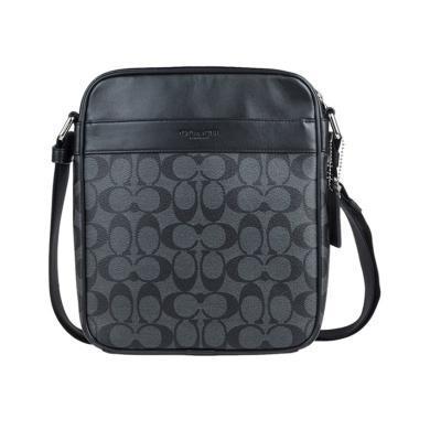 【支持购物卡】COACH 美国蔻驰 PVC 男士 单肩斜挎 小方包 公文包