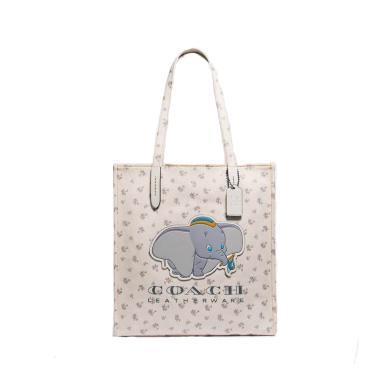【支持購物卡】COACH蔻馳 帆布印花小飛象托特包單肩手提包