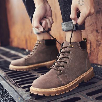 男士馬丁靴男鞋子男士休閑靴子高幫工裝靴潮靴工裝靴 TX-600