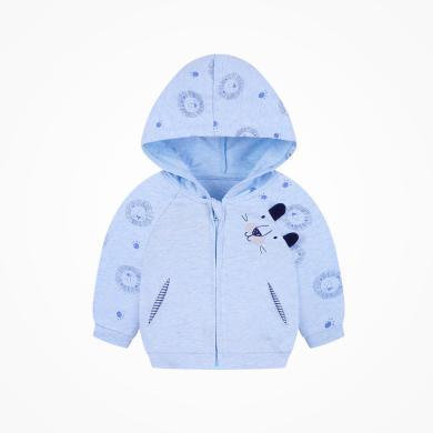 丑丑嬰幼秋冬新款男童外套  男寶寶卡通前開拉鏈衫