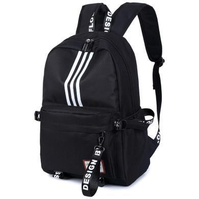 香炫儿XIASUAR 双肩包女书包男韩版旅行包中学生大容量休闲校园女士背包 581黑色