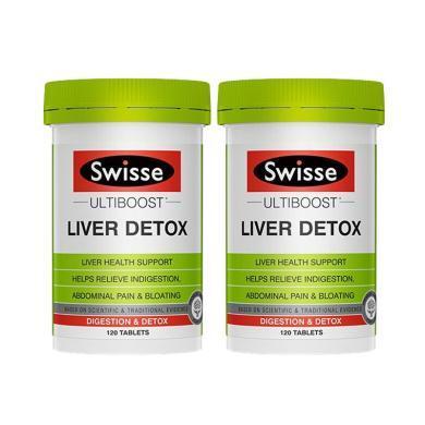 【支持购物卡】2瓶*澳洲Swisse护肝排毒片奶蓟草片120粒/瓶 香港直邮
