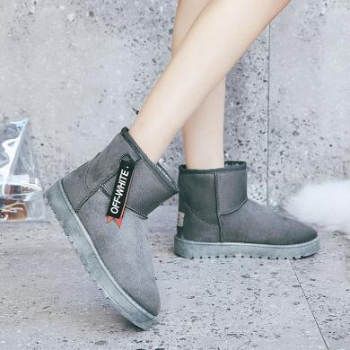 新款ins冬季加絨短靴休閑女棉鞋雪地靴女YC-G20