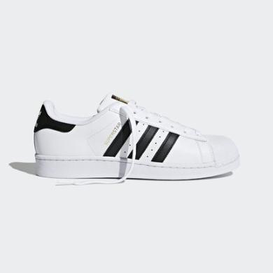 阿迪達斯男女鞋金標貝殼頭superstar運動小白鞋C77124