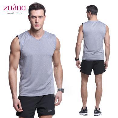zoano佐納 男士運動背心夏季新款健身服無袖T恤運動透氣速干背心運動上衣