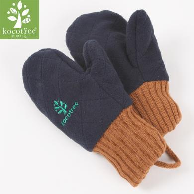 kk樹兒童手套冬男孩女孩新款加絨連指秋冬小孩寶寶手套1-3歲男女童潮  KQ12056