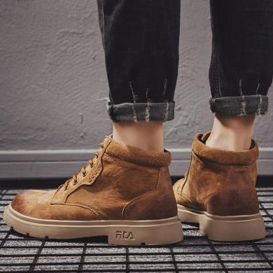 潮牌馬丁靴男英倫戶外工裝靴男士高幫鞋潮真皮男鞋新款男靴子MR-0606