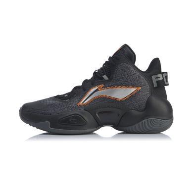 李寧籃球鞋男鞋空襲 VI2019新款減震回彈休閑男士中幫運動鞋ABAP067