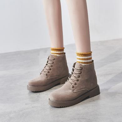 马丁靴女秋冬女鞋百搭单靴2019新款靴子秋季小英伦风秋鞋短靴LSXY-1918