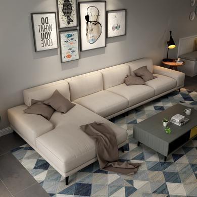 HJMM北歐意式極簡布藝沙發簡約現代小戶型客廳可拆洗沙發組合
