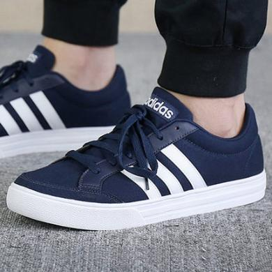 Adidas阿迪达斯男鞋2019秋季新款运动蓝色低帮帆布板鞋AW3891