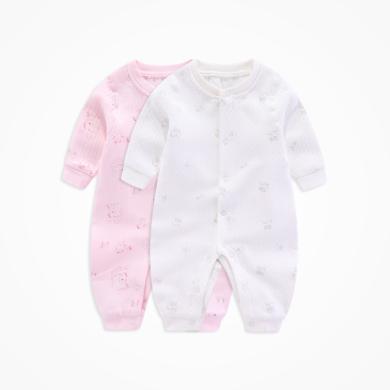 丑丑嬰幼 秋冬男女寶寶保暖前開哈衣 嬰幼兒卡通可愛哈衣、爬服、連體衣 COD091X