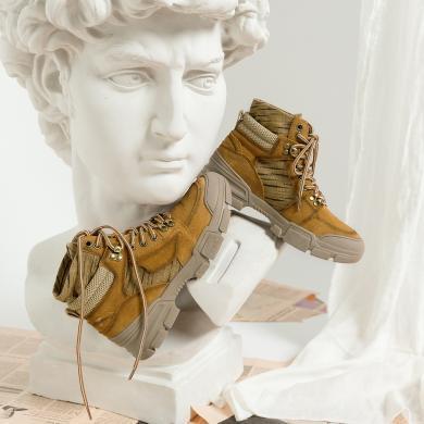 青婉田厚底馬丁靴女英倫風短靴女2019新款運動靴女沙漠戰狼靴女靴B19DX1411