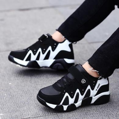camkids童鞋童裝春季新款男童鞋皮面防水跑步鞋兒童運動鞋