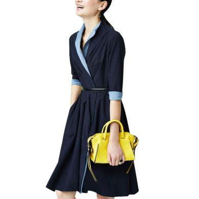 短款風衣女秋季新款2019流行風衣裙英倫風收腰小個子連衣裙式外套