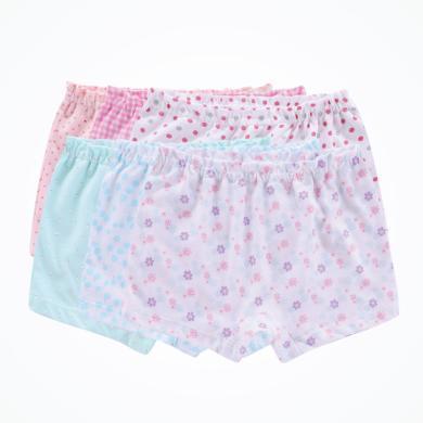 丑丑婴幼女宝宝平角内裤儿童可爱多色内裤 女童四季内裤