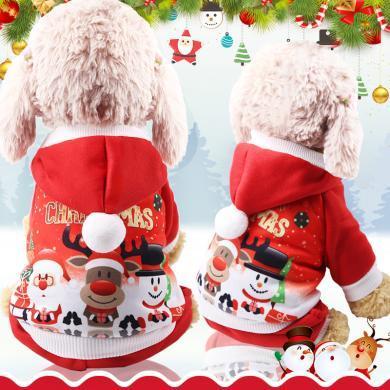 小中大狗狗衣服圣誕節衣服寵物衣服貓咪衣服搞怪秋冬裝老人麋鹿雪