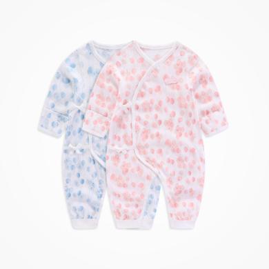 丑丑婴幼 ?#20449;?#23453;宝四季绑带哈衣新款婴幼儿纯棉哈衣、爬服、连体衣