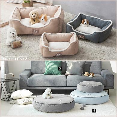 四角戰壕狗窩寵物墊子泰迪小型中型犬大型狗狗用品床貓窩四季通用