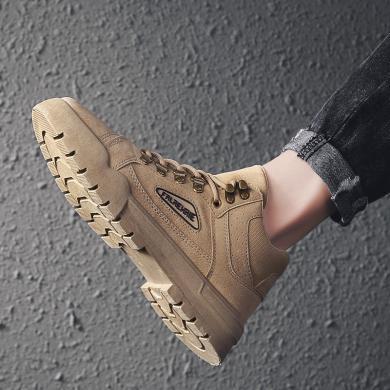 新款馬丁男鞋休閑中幫工裝英倫男士皮靴沙漠短靴冬季YG2662