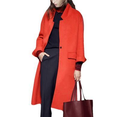 女式冬季毛呢外套長大衣2019新款名媛氣質寬松中長款過膝呢子上衣