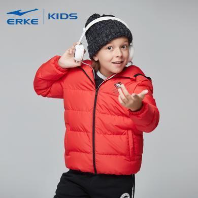鴻星爾克 童裝男童外套冬季新款加厚保暖兒童夾克男孩連帽棉服保暖加厚外套兒童棉服棉服外套 63218411055