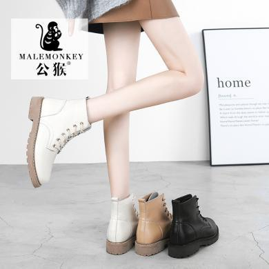 公猴马丁靴女新款百搭英伦风短靴春秋单靴ins?#40763;?#20908;鞋
