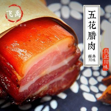 飛禹 四川特產五花臘肉農家自制柴火煙熏咸肉川味熏肉手工腌肉臘味500g fy04