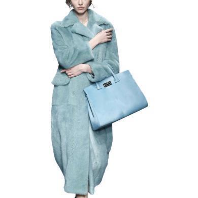 歐美中長款加厚毛呢大衣女2019秋冬裝新款韓版寬松時尚呢子外套潮