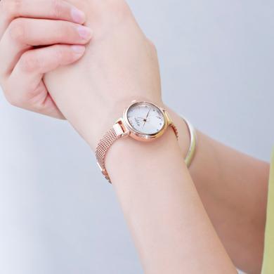聚利時正品時尚銅質手鏈圓形小表盤簡約石英學生手表女表JA-934
