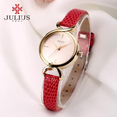 聚利时手表淑女正品 时尚女表皮带学生手表生活防水石英表JA-694