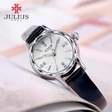 julius旗舰店玲珑花纹表盘明星同款时尚潮流石英手表女小表JA-908