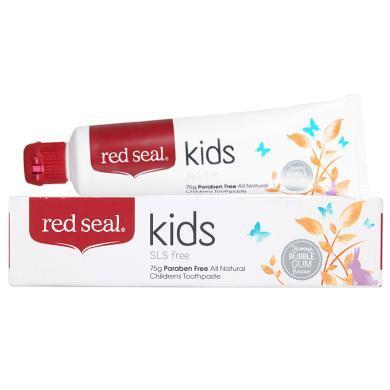【支持购物卡】新西兰进口RED SEAL/红印儿童可?#33796;?#29273;膏3-6-12岁换牙期 75g 香港直邮