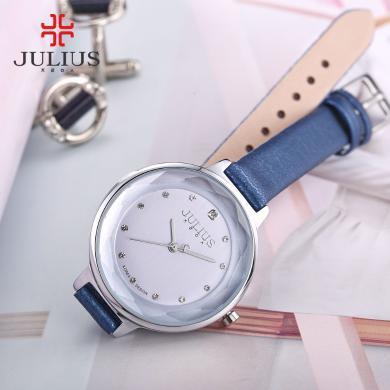 聚利時julius正品時尚圓形水鉆學生表防水石英手表女表JA-935